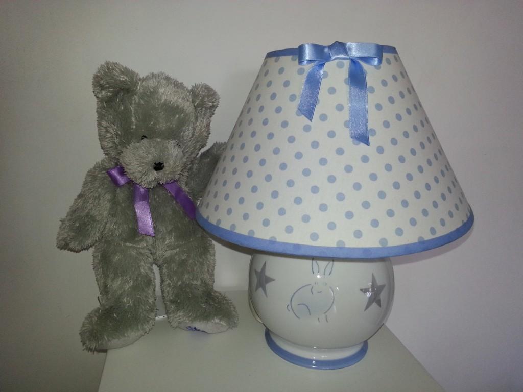 Lampe bébé lapin lustre