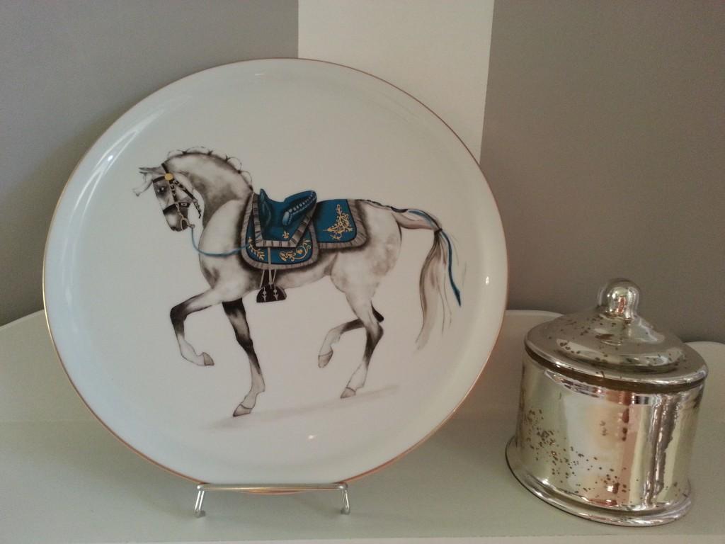 Plat cheval lusitanien
